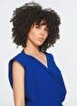 Zeynep Ökmen Önü Degaje Kesimli Sırtı Açık Esnek Elbise Mavi